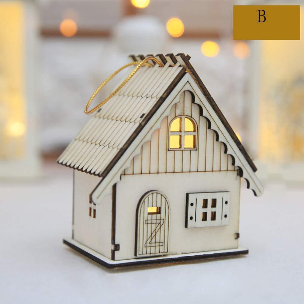 BaZhaHei-Wallpaper BaZhaHei decoración de los muebles, decoraciones de Navidad LED luminoso de cabina colgante de la Navidad Decoración de la mesa LED ...