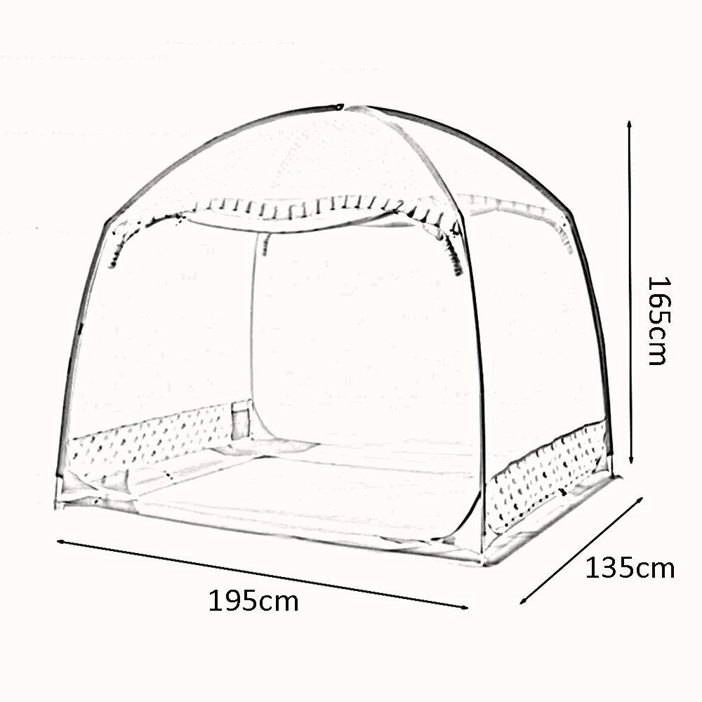 QFFL wenzhang Yurt Verschlüsselung Praktische Moskitonetz Verdicken Schlafzimmer Moskitonetz Mit (2 Reißverschluss Atmungsaktiv Baby Moskitonetz (2 Mit Farben erhältlich) 8b0844