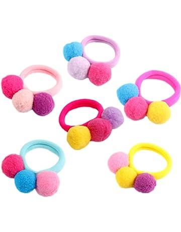 Cosanter 6 Piezas Goma de Pelo Multi Candy Color Lazo de Pelo Elástico Banda de Goma