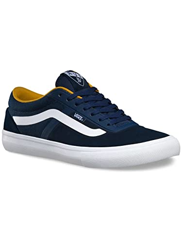 732c24d25a Vans Av Rapidweld Pro Dress Blues Sun Yellow Mens Skateboarding Fashion  Shoes 8.5 B(M
