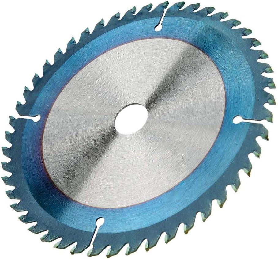Metal Blando Yanmis Hoja de Sierra Circular Disco de Hoja de Corte con Recubrimiento de carburo Azul para Cortar pl/ástico Aluminio Madera 165 * 2.3 * 20 * 40T Cobre