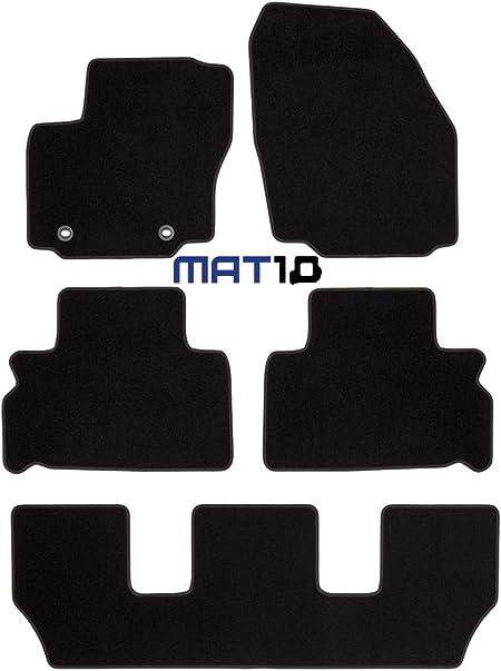 Mat10 Black Line Ford S Max 7 Sitzer Und Galaxy 7 Sitzer Baujahr 2006 05 2012 07 Auto Fußmatten Autoteppich Dilour Nadelfilz Gute Qualität 4 Teilig Schwarz Garantierte Passform Auto