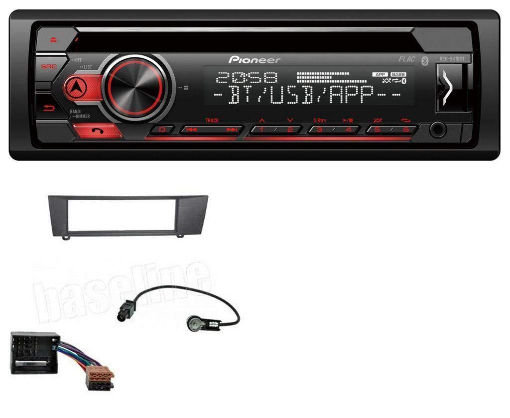 caraudio24 Pioneer DEH-S410BT MP3 CD USB AUX Bluetooth Autoradio fü r BMW 1er E87 3er E90-3 X1 E84 Z4 E89