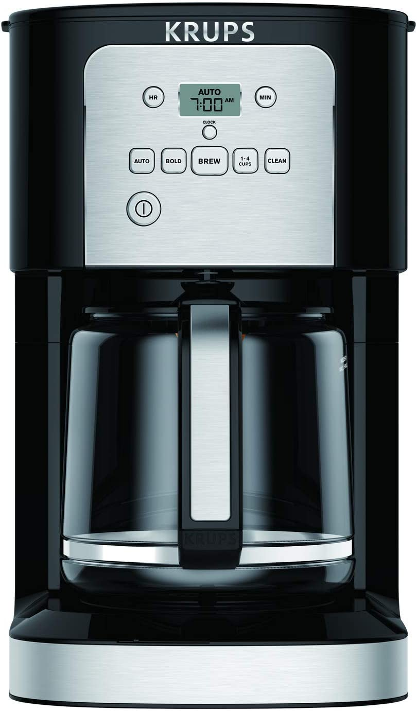 KRUPS EC321050 Thermobrew Programmable Coffee Maker, 12-Cup, Black (Renewed)