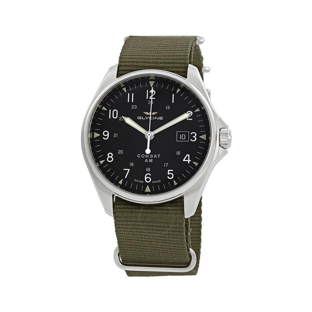 Glycine Combat 6 Vintage Automatic Black Dial Mens Watch GL0122