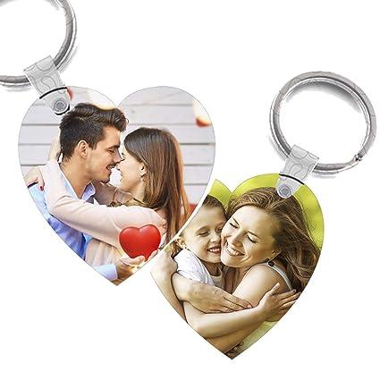 Llaveros Personalizados con Foto - CREA tu Llavero Personalizado dpi - Lavero Ideal para Parejas - Regalo Mujer - Hombre - Familiar - Madre - Bebe - ...