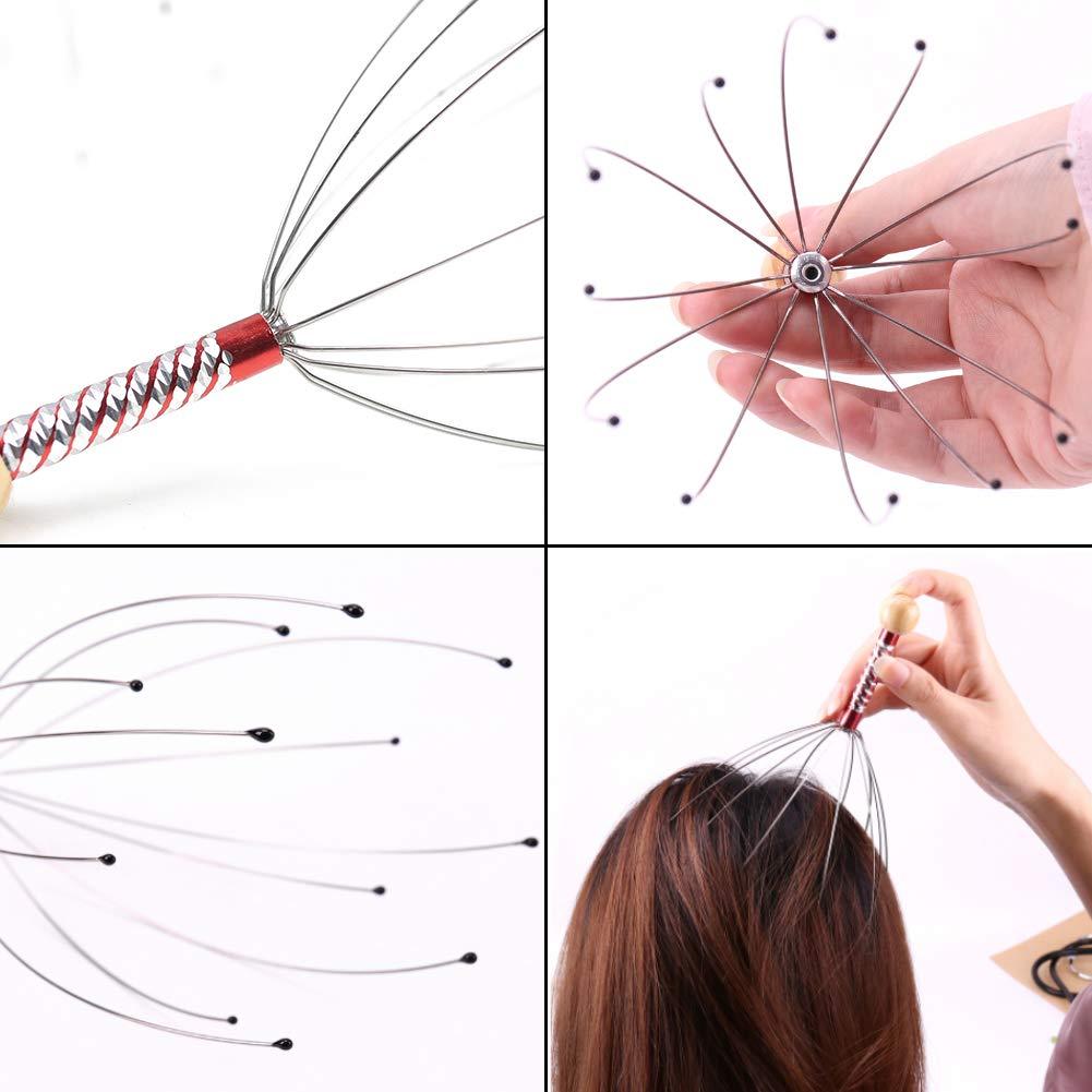 HAKACC Scalp Massagers Head Scratcher Set for Hair Stimulation Deep Relaxation