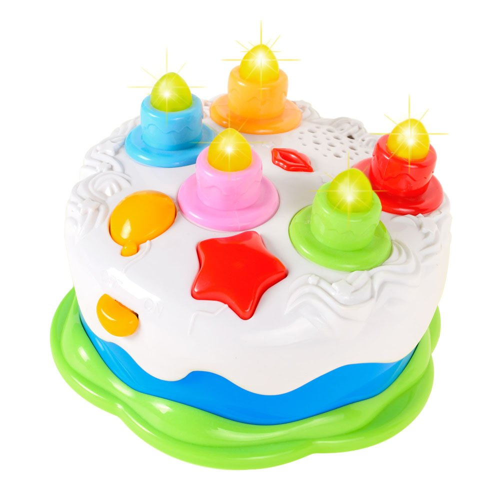 Kids Birthday Cake Toy With Candles Music Pretend Play Food Amazonin Baby