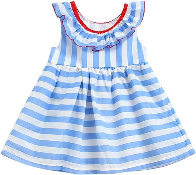 WUSIKY - Falda - Trapecio o Corte en A - para niña Azul Celeste ...