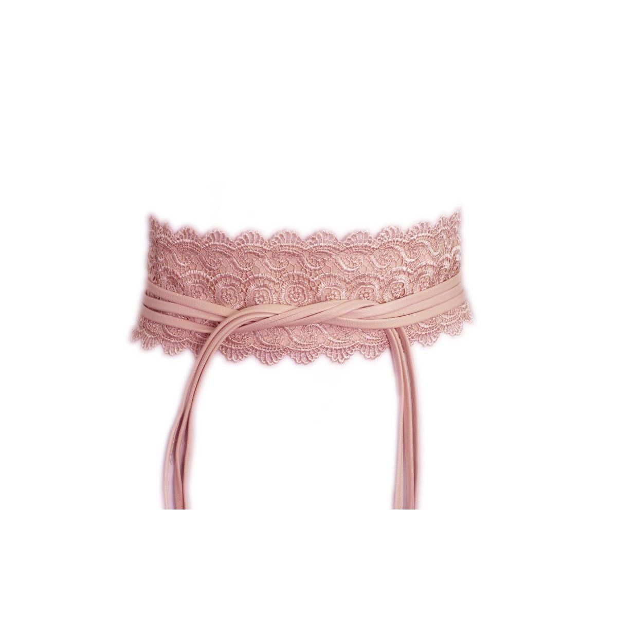 87fc811e9f9 Laciteinterdite - Ceinture large dentelle à nouer rose  Amazon.fr  High-tech
