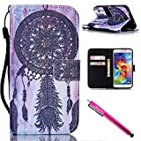 Galaxy S5 Case, Galaxy S5 Wallet Case, Firefish Stand Flip Folio Wallet Cover Shock Resistance Protective Shell with Cards Slots Magnetic Closure for Samsung Galaxy S5 i9600-Blacknet