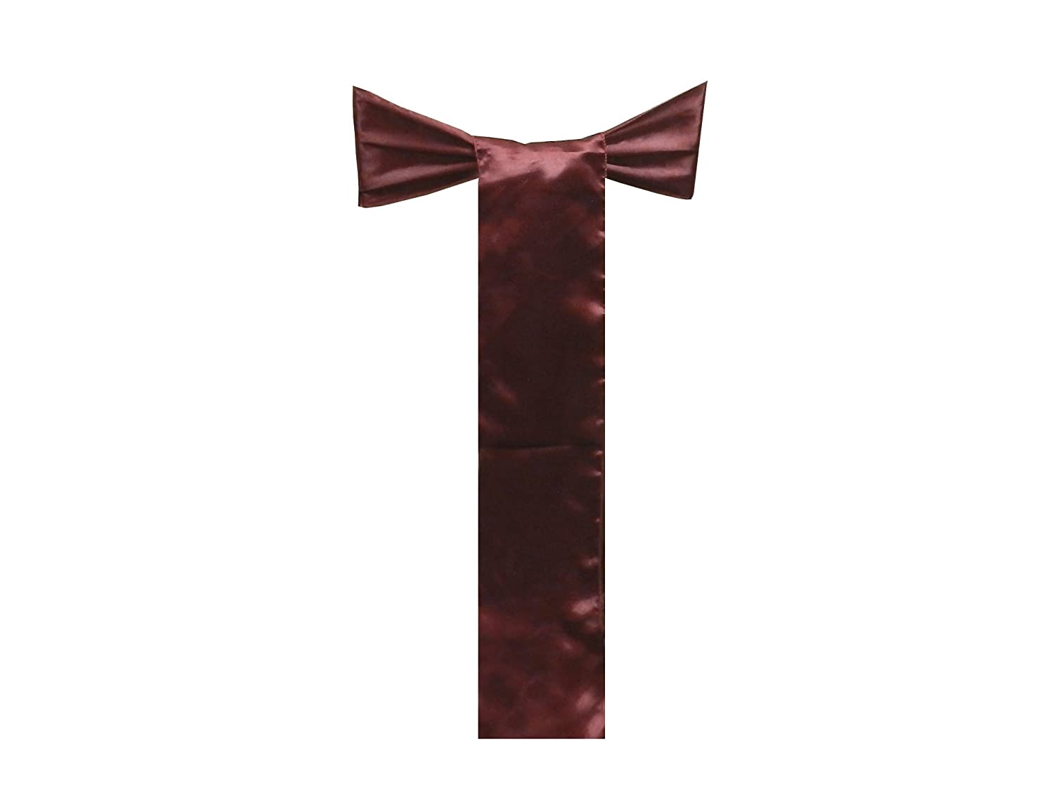 MAROON-125 Pack of 125,Maroon Elina Home Satin 6 x 108 Chair Bow Sash Wedding Banquet Kitchen Decoration Elina Fashion SATIN-CHAIR