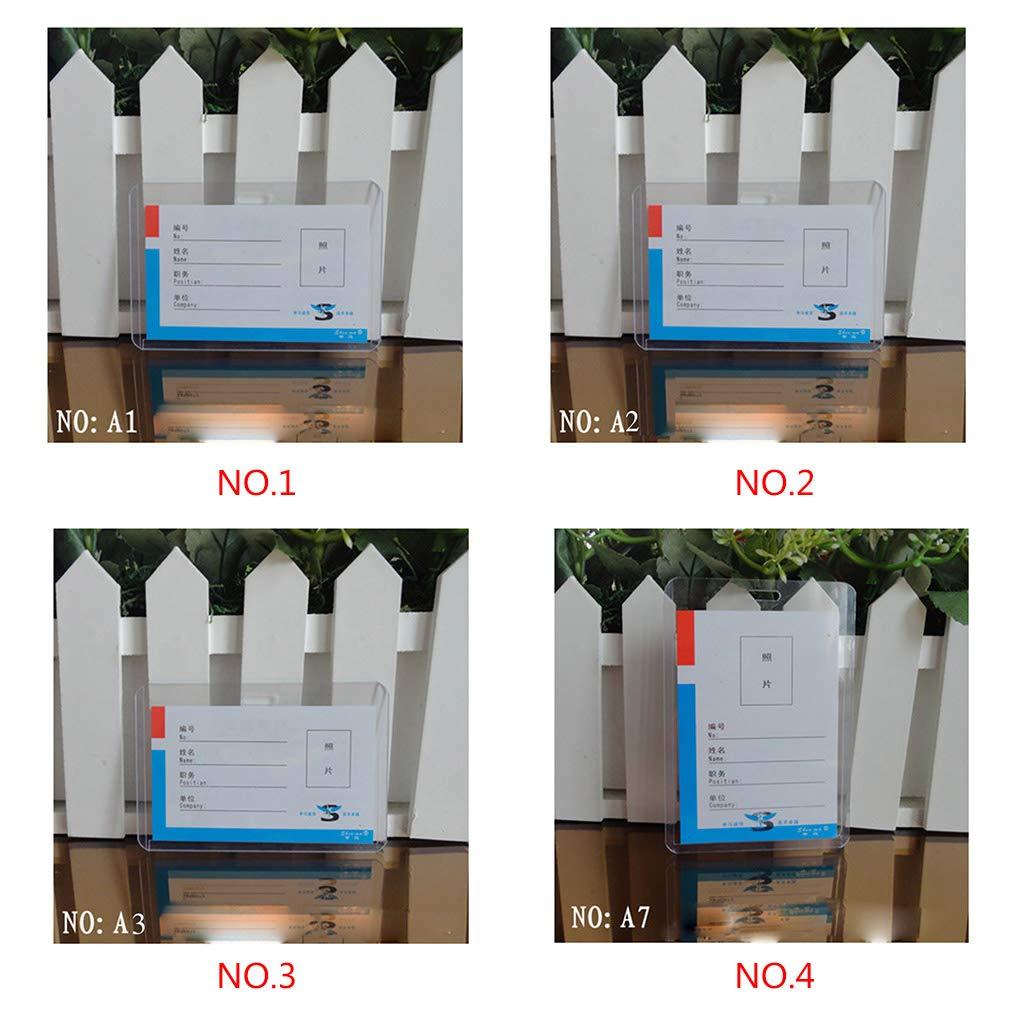 Meisijia Ufficio Supporto di plastica ID Card Cover Orizzontale Verticale Scheda Petto Trasparente
