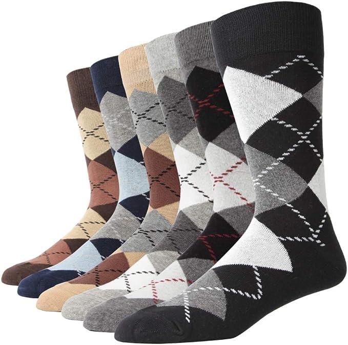Cotton Rich Lycra multi strip color socks UK 6-11 5 Pairs Mens Designer Socks