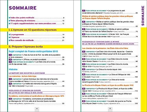 Annales Annabac 2016 Histoire-Géographie Tle L, ES: sujets et corrigés du bac - Terminale L, ES: 9782218991226: Amazon.com: Books
