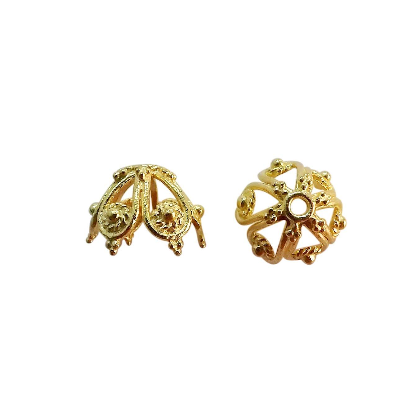 18K Gold Overlay Bead Cap CG-331-12X15MM Bali Designs
