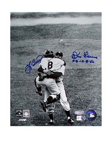 MLB New York Yankees Yogi Berra/Don Larsen Dual Signed 8x10