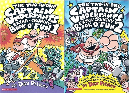 Download The Captain Underpants Two-in-One Extra-Crunchy Book o' Fun 1 and 2: Comics, Laffs, Puzzles, Stickers, Flip-o-Ramas, Jokes, 'n' Other Cool Stuff pdf