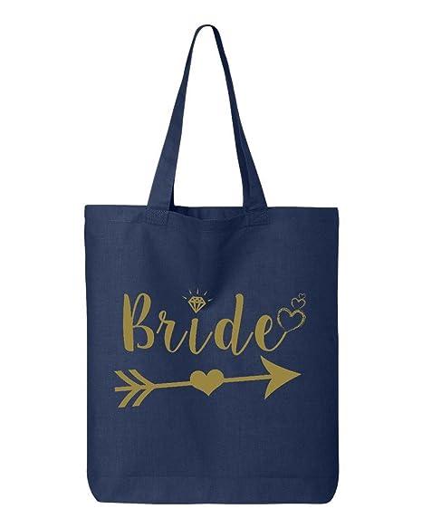 Amazon.com: shop4ever novia corazón Flecha Oro bolsa de boda ...