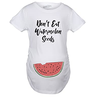 644c4a34b8bd6 Crazy Dog T-Shirts Maternity Don't Eat Watermelon Seeds Tshirt Funny Summer  Pregnancy