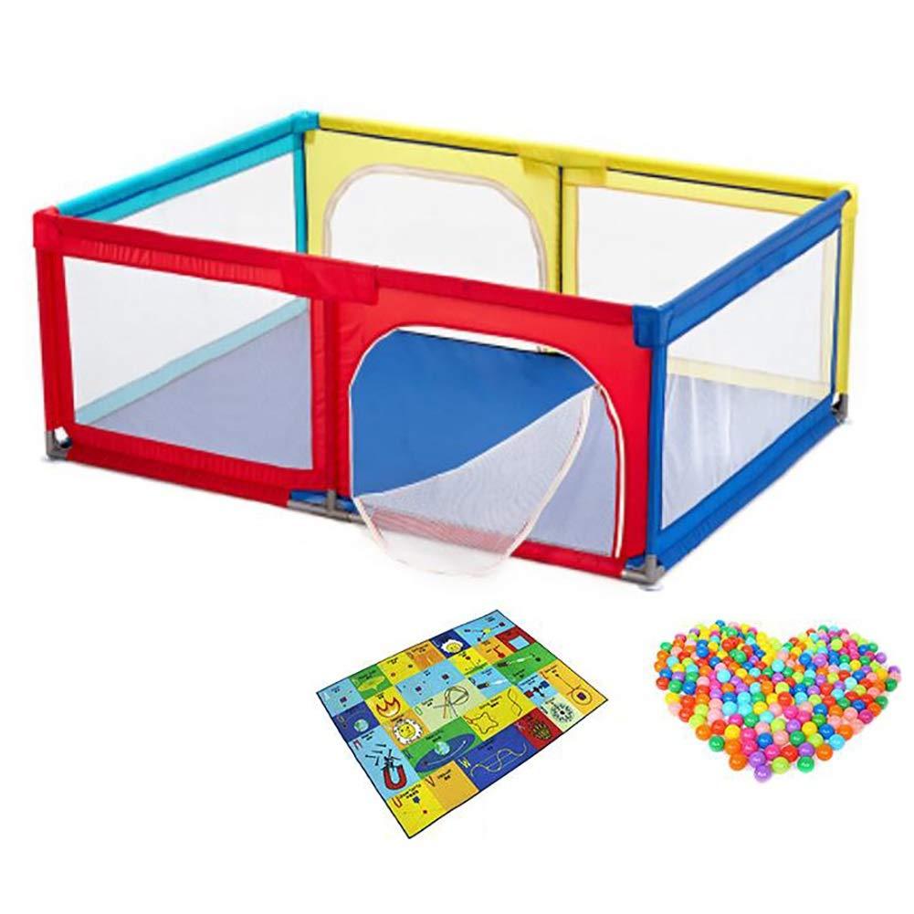 ベビーフェンス 赤ちゃん遊び場6パネル/クロールマット/ボール子供用屋内ゲームフェンスガーデン安全活動エリア安全設計   B07JF5JVQ9