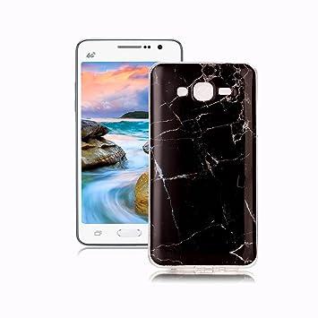Yunbaoz Funda Compatible para Samsung Galaxy Grand Prime G530 Mármol, Diseño Mármol Carcasa Suave Goma Silicona Soft Marble Case Suitable for Samsung ...
