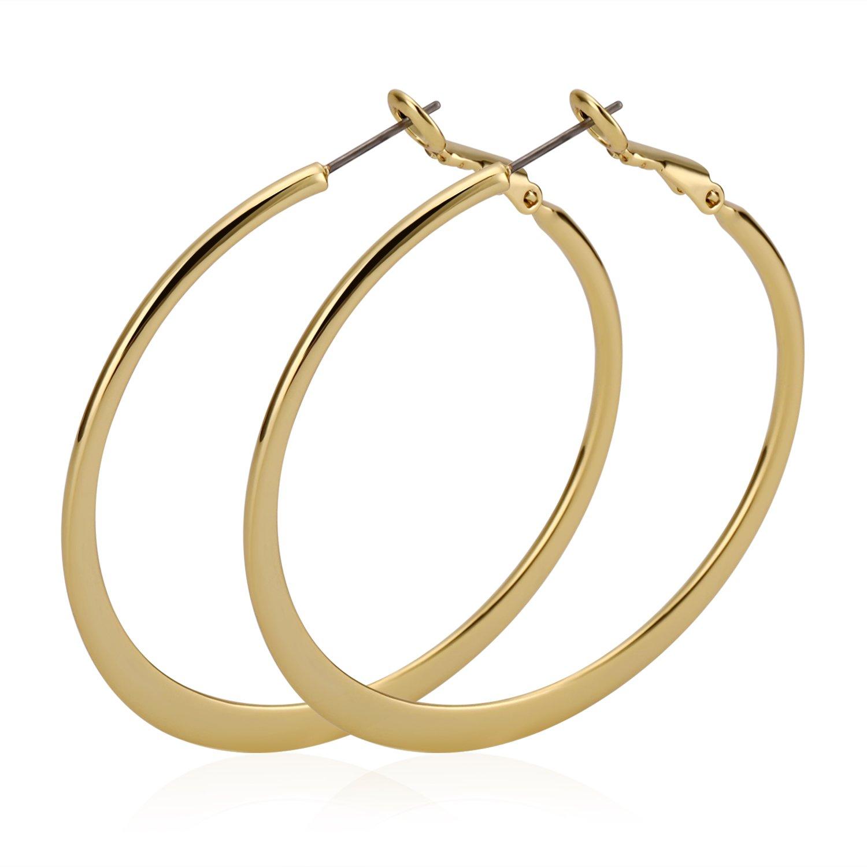 KAY BLEEKF Hoop Earrings for Women Girls Hypoallergenic Round Circle Hoop Earrings Set for Gift gold hoop earring