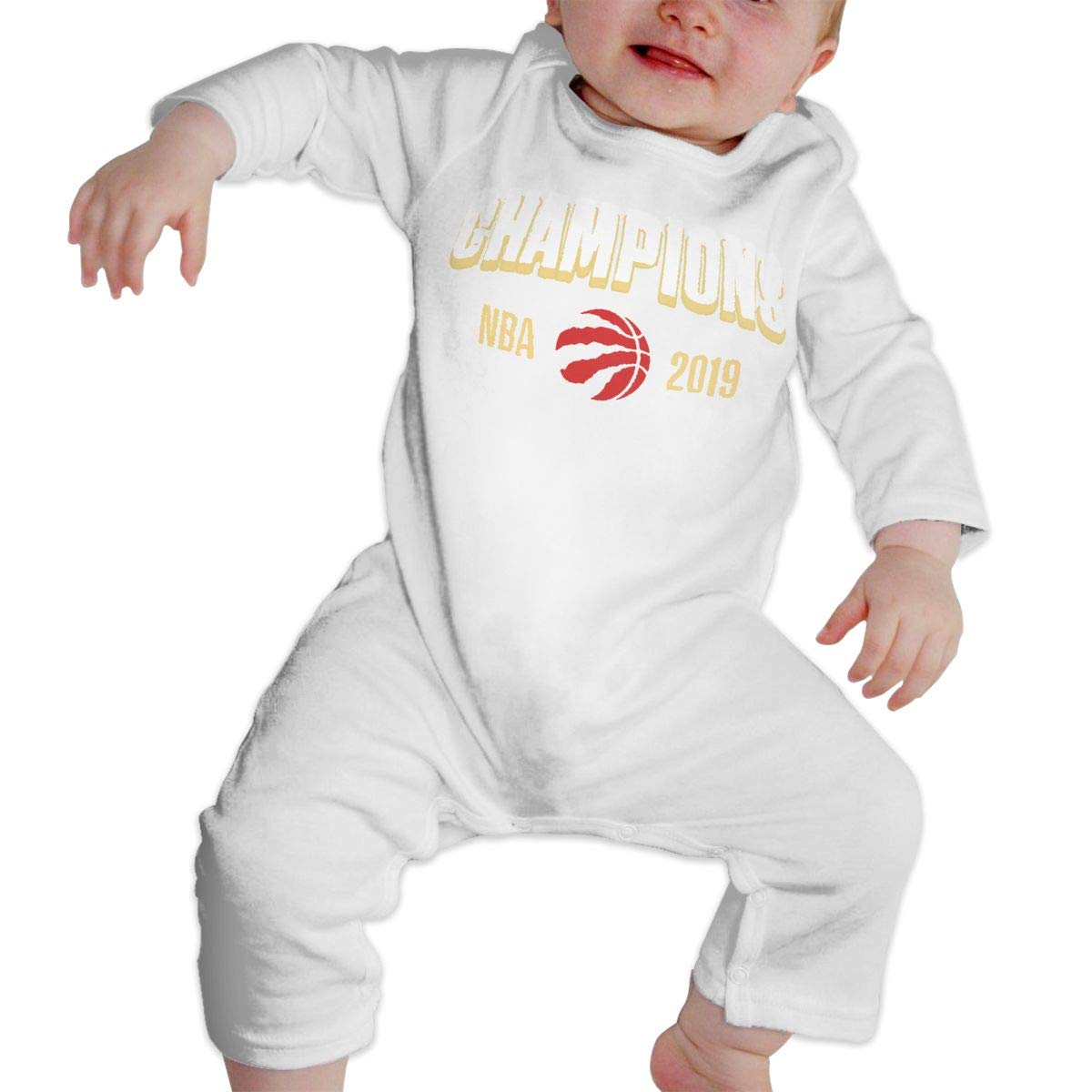 Fuiyi Baby Soft Toronto-Raptors 2019 Finals-Champions-Art Long Sleeve Cotton Bodysuits