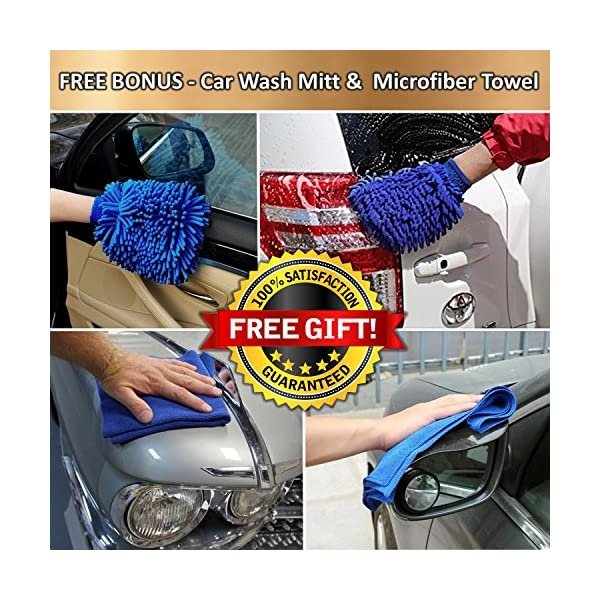 Car Vacuum Cleaner High Power 12v DC 150W 4500PA Suction With LED Light Portable Handheld Auto Vacuum Wet Dry 14FT5MPower Cord FREE BONUS Carrying Bag Car Wash Mitt Microfiber Towel Autozon