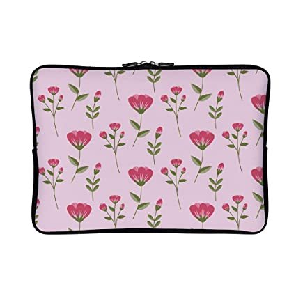 9ceb65e42cfb Amazon.com: DKISEE Abstract Pink Flowers01 Neoprene Laptop Sleeve ...