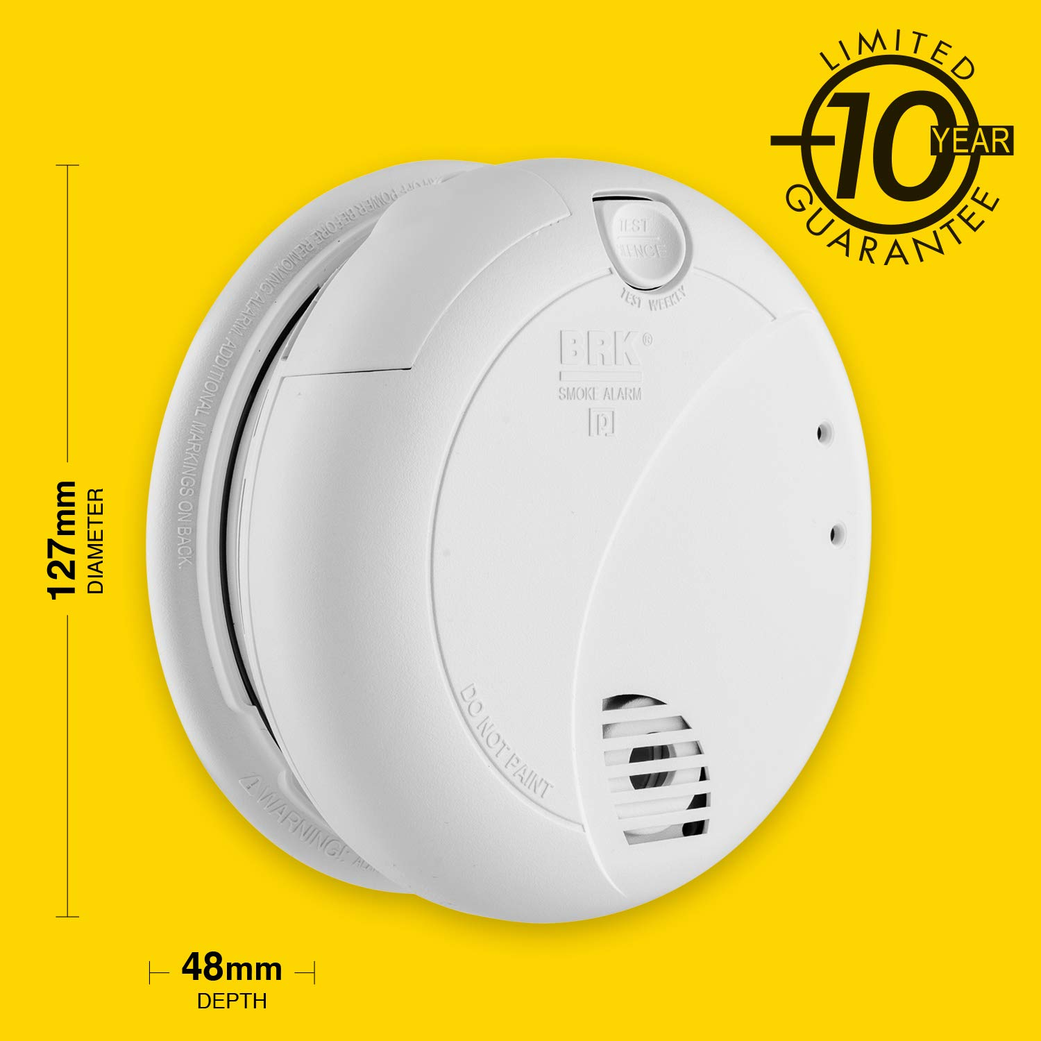 BRK 7010LBE Optical Smoke Alarm, Mains Powered with 10 Years Battery Backup