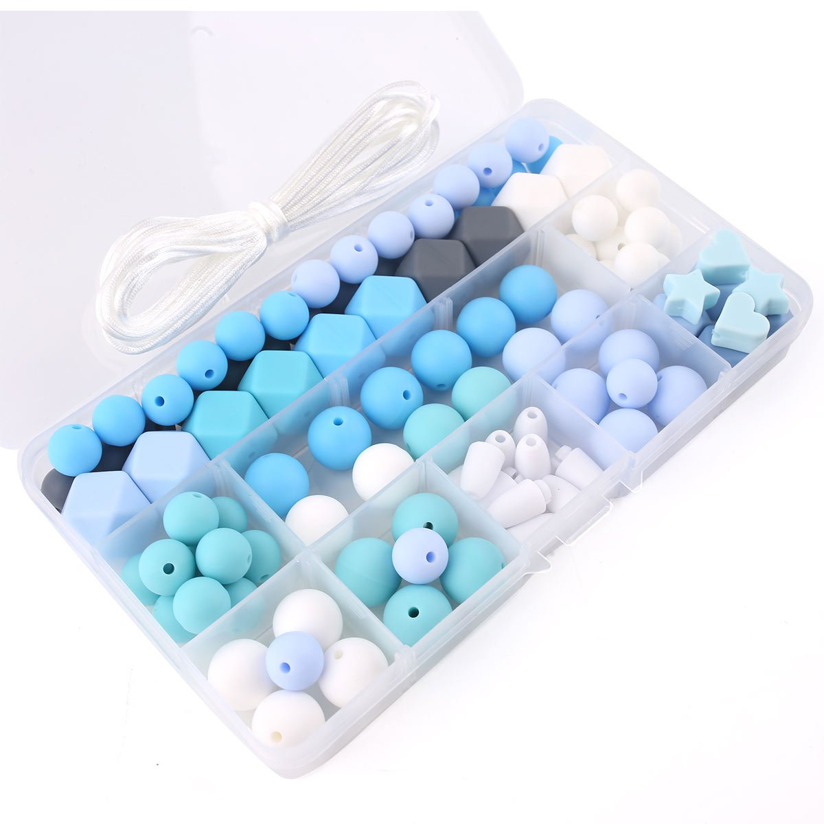Silicone Beads Bulk DIY Teething Jewelry Colorful Balls Sensory Kids Jewelry Necklace Chewable Beads Organic Teether Toys