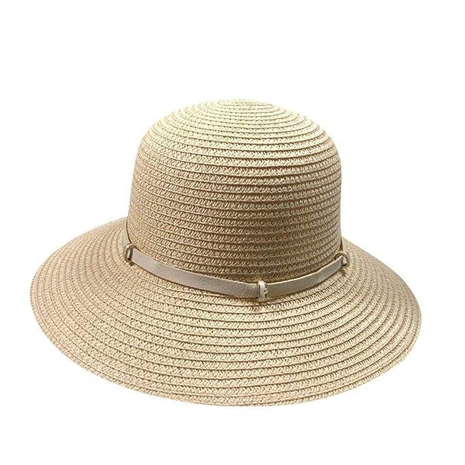 Elegante Sombrero De Playa Moda Gorra De Verano Plegable Cómodo Mujeres  Vintage Jazz Panamá Sombrero De Paja Sombrero para El Sol con Protector  Solar ala ... 01fd79fab59