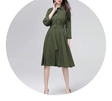 e04b7346ef1799 England Green 4XL Plus Size Women 2018 Pleated Dames Jurken D17318 at  Amazon Women s Clothing store