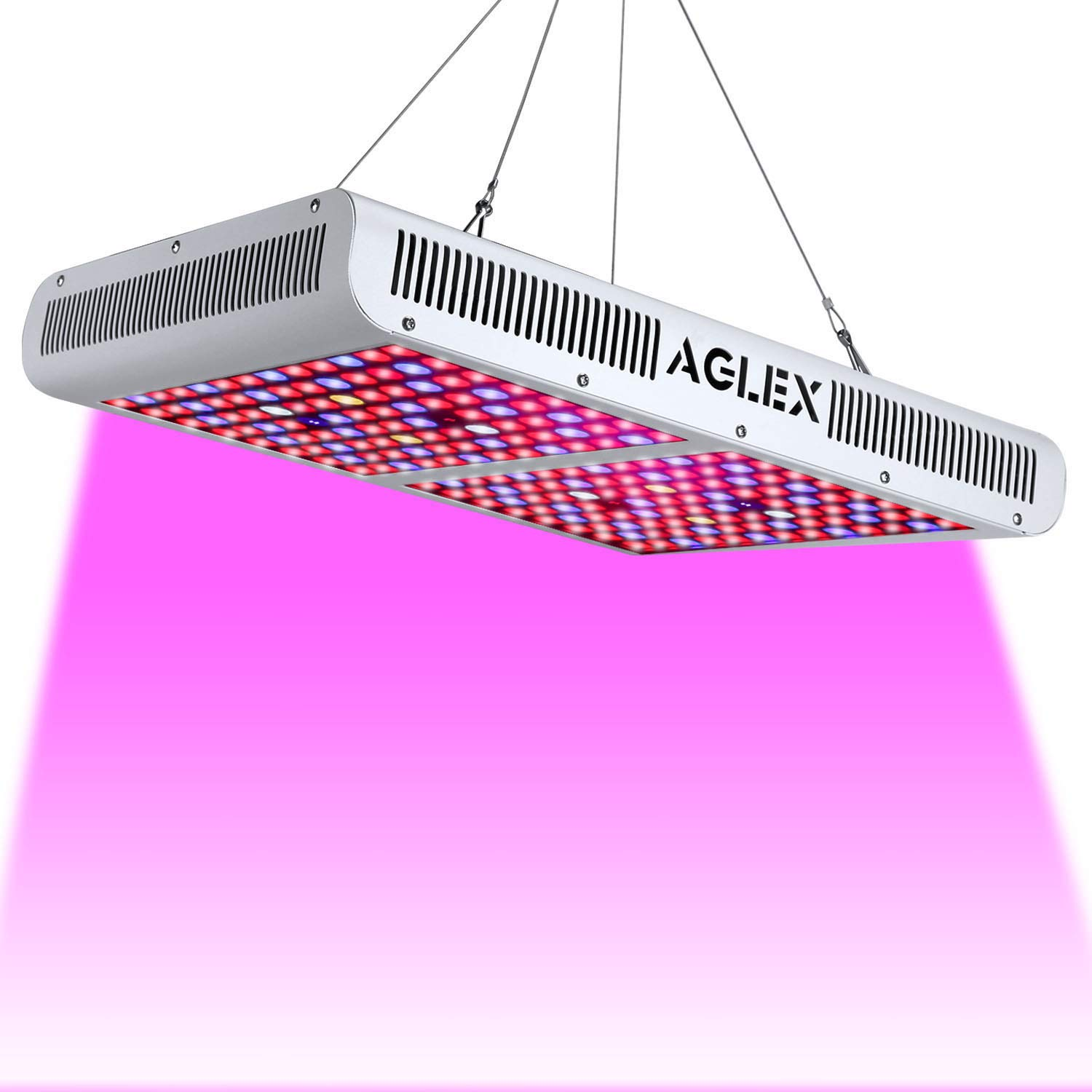 LED Grow Light 2000W Full Spectrum, Reflector Series Growing Lamp with UV & IR White for Indoor Plants Veg and Flower (208pcs LEDs) by AGLEX
