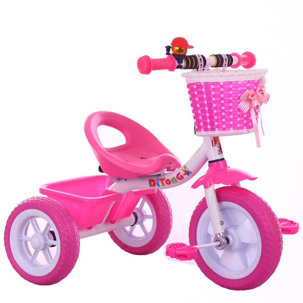 Kinderfahrräder Guo Shop- Unisex-Baby Trolley Kinder Dreirad Fahrrad 1-3-5 Jahre Alt Kinderwagen Abnehmbare Schubstange