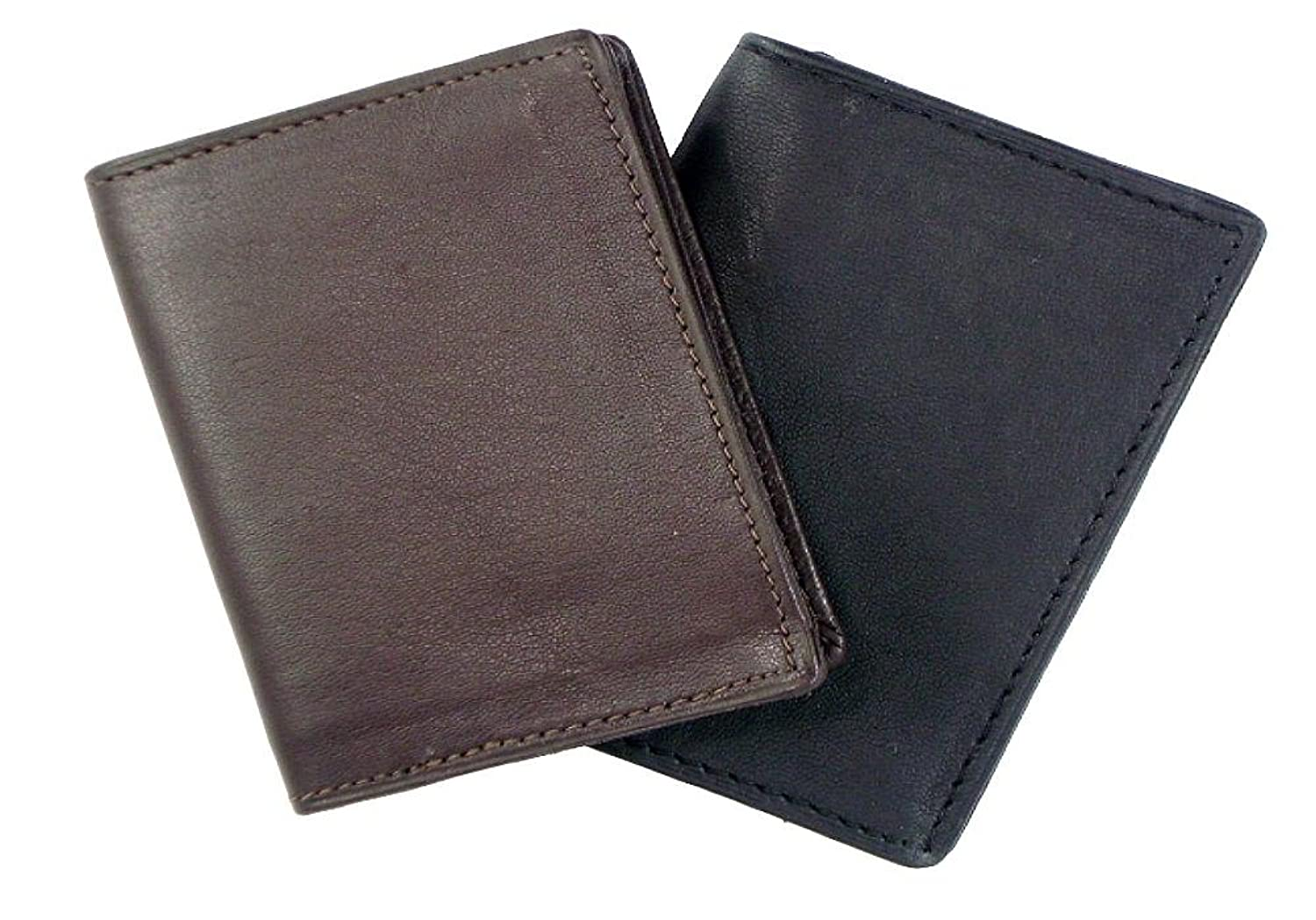 Amazon.com: New Leather Business Card Holder Expandable Wallet ...