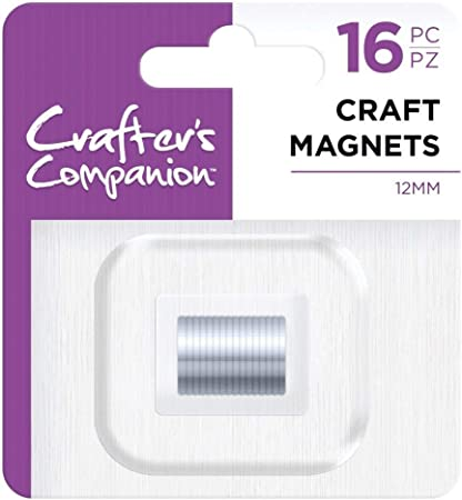 Metal 12mm 16PC Silver Crafters Companion Crafters Companion-12mm Craft Magnets