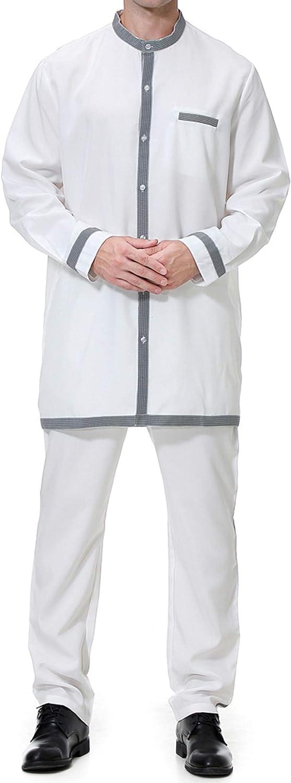 Hombre Mango Maxi Vestidos Abaya-Ropa Musulmán Camisa ...