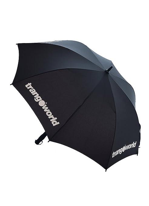 TRANGO Storm Paraguas Plegable, 30 cm, Negro/Blanco