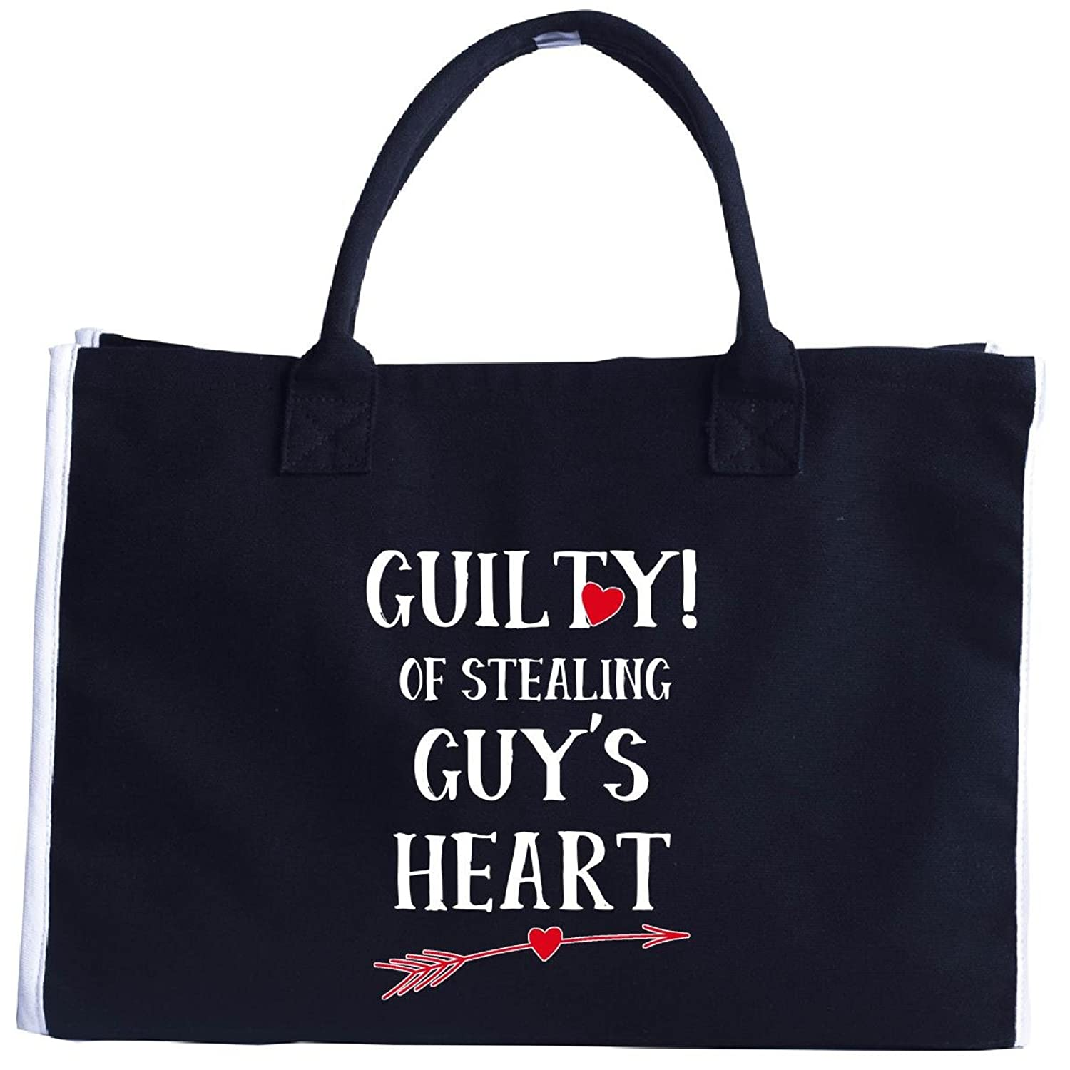 Guilty Of Stealing Guy's Heart Funny Valentines Day - Tote Bag