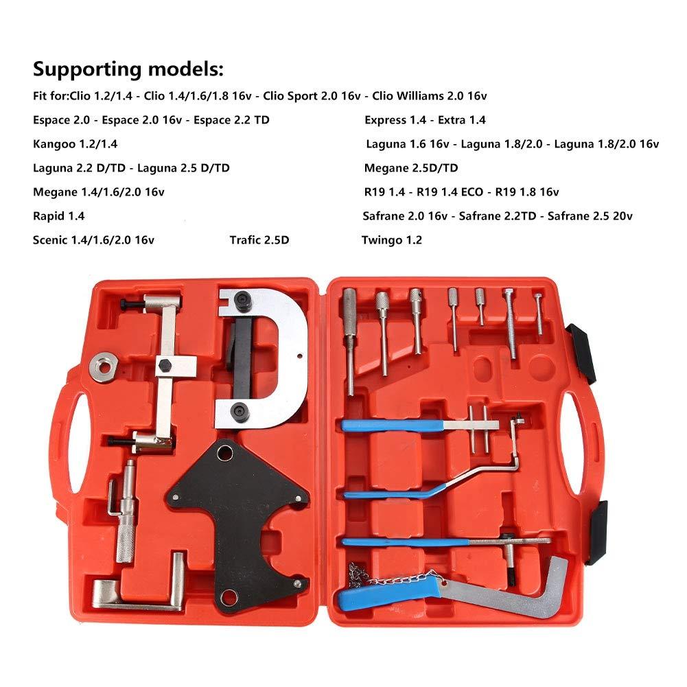 Carbon Steel Master Timing Tool Set Kit Car Camshaft Engine Timing Repair Tools Red Case Timing Tool Set Kit