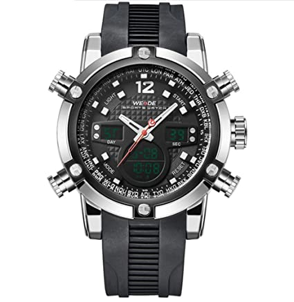Luxury Watch Men Luxury Brand Top Men Army Military Watch Mens Quartz LED Digital Leather Led