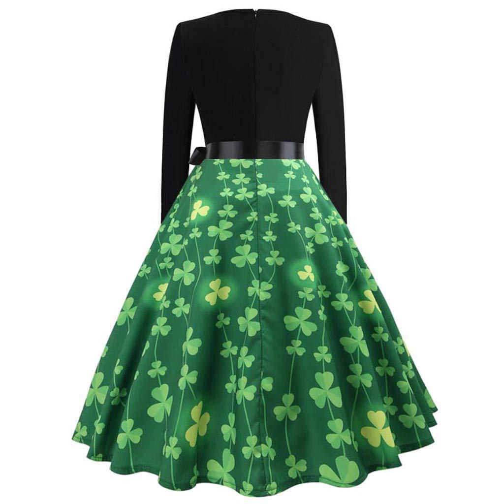 Amazon.com   Haluoo Women s Vintage St. Patrick s Day Dress 6e53e62e7c16