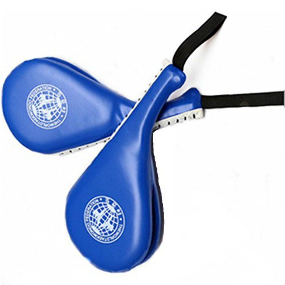 Durable Taekwondo Double Kick Pad Target Tae Kwon Do Karate Kickboxing TKD Kicking Pad Practice Kick Target Training (Blue) Grancy Life