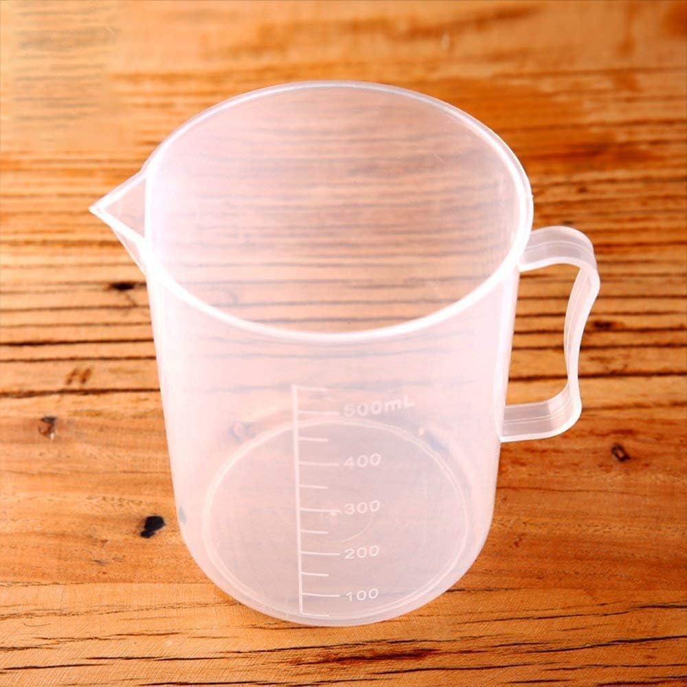 Ogquaton Tasse /À Mesurer en Plastique avec /Échelle /À Mesurer Conteneurs B/écher Tasse /À Mesurer Durable pour Home Lab Utilisez 1 PCS 500 ML