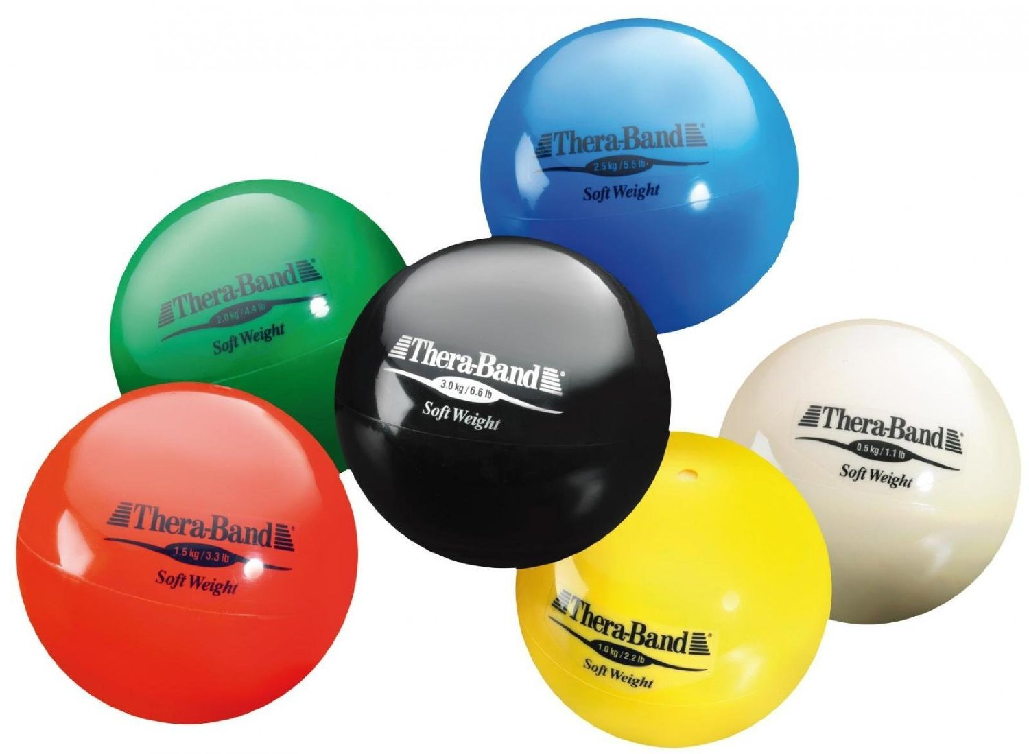 Hygienic/Theraband 25801 Soft Weight Ball, Assorted (Pack of 6)
