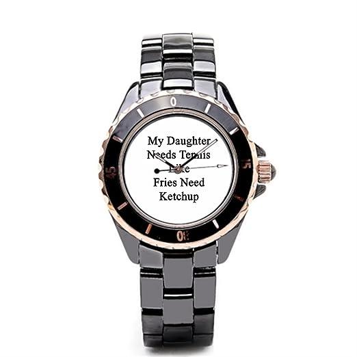 Se La rage de hombre tenis ventiladores barato Relojes de pulsera. Color negro/dorado: Amazon.es: Relojes