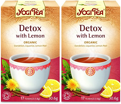 (2 Pack) - Yogi Tea - Detox with Lemon Tea | 17 Bag | 2 PACK BUNDLE