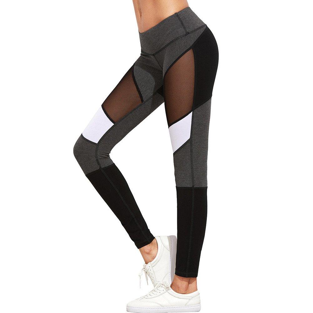 LEvifun Leggins Sportivi Donna Vita Alta Pantaloni Palestra Yoga Leggings Fitness